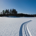 Пустынный зимний пейзаж